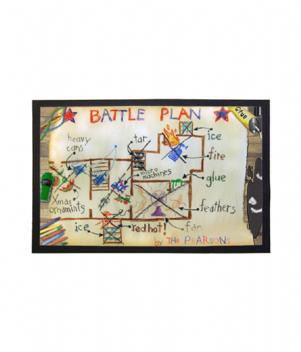Home Alone Inspired Personalised Battle Plan Doormat Welcome Mat